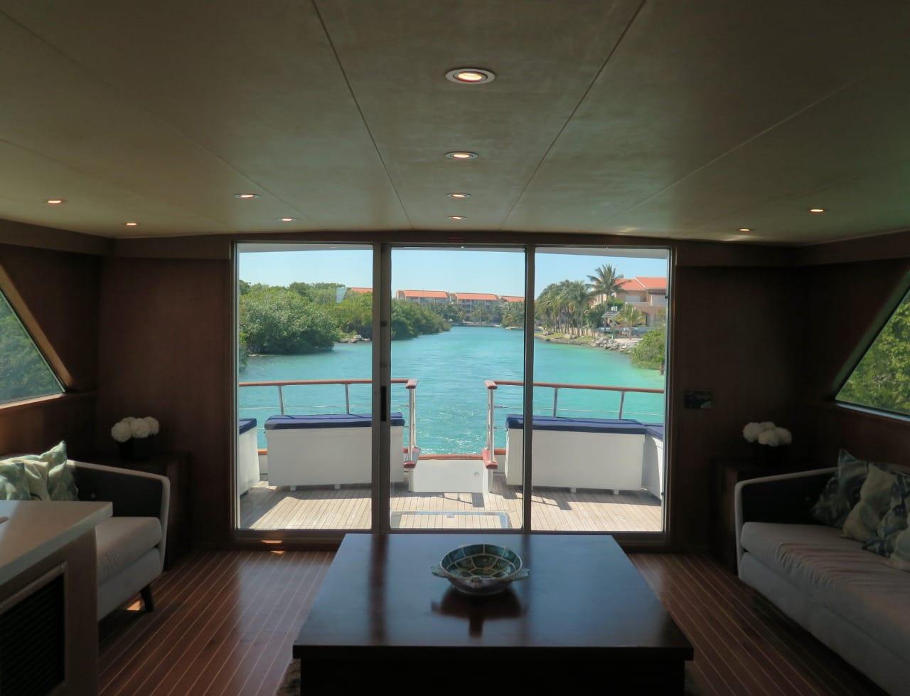 luxury large yacht