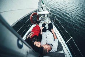 romantic date on yacht